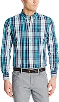 Dockers Cotton Poplin Plaid Long Sleeve Button Down Shirt