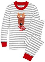 Sara's Prints Infant Unisex Striped Reindeer Pajama Set - Sizes 12-24 Months