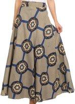 Sakkas SK16318 - Garan Long Opaque Fully Adjustable Printed Skirt Wrap Around Without Slit - OS