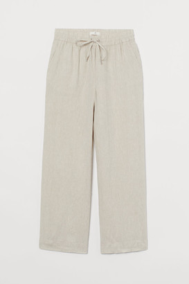 H&M Wide linen trousers