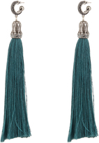 Lanvin Crystal-embellished tassel earrings