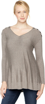 A Pea in the Pod Long Sleeve Button Detail Maternity Sweater