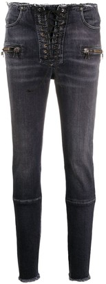 Unravel Project Raw Edge Skinny Jeans