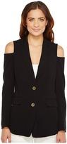 MICHAEL Michael Kors Cold Shoulder Blazer Women's Jacket