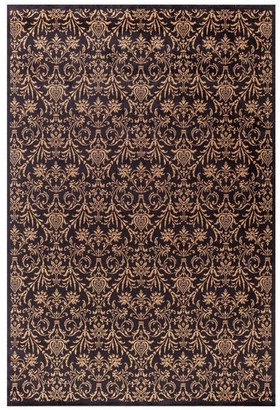 "Concord Global Damask Black 3'11""X5'7"" Rectangle Woven RugJewel Collection"