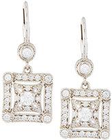 Penny Preville 18k Square Diamond Drop Earrings