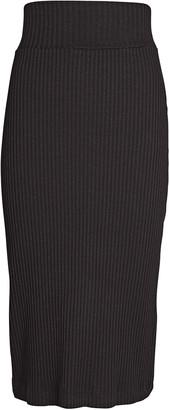 Enza Costa Rib Knit Cotton Pencil Skirt