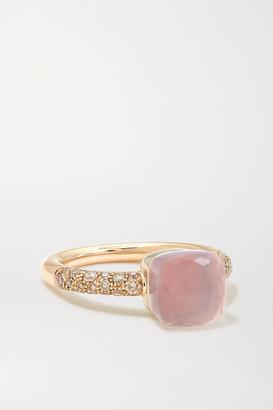 Pomellato Nudo Petit 18-karat Rose Gold Multi-stone Ring - 15