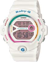 Casio BG6903-7C Women's Baby-G Digital Grey Dial 60 Lap Memory White Resin Dive Watch