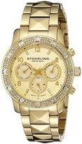 Stuhrling Original Symphony Lady Nobilis Women's Quartz Watch with Gold Dial Analogue Display and Gold Stainless Steel Bracelet 697.02
