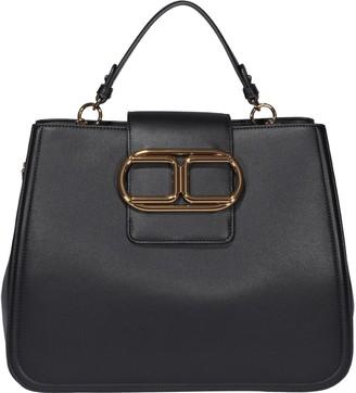 Elisabetta Franchi Logo Buckle Tote Bag