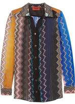 Missoni Printed Silk-Blend Chiffon Shirt