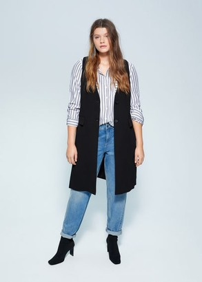 MANGO Violeta BY Pocket suit waistcoat black - S - Plus sizes