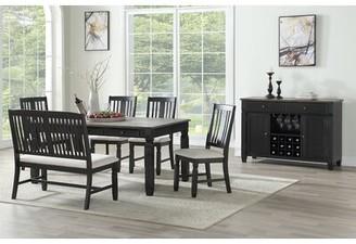Rosalind Wheeler Edna Solid Wood Dining Chair (Set of 2 Frame Color: Black