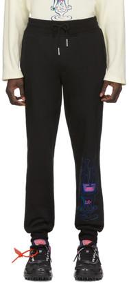 Rochambeau Black French Terry Jogger Lounge Pants