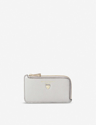 Aspinal of London Zipped leather coin purse