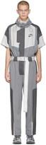 C2H4 Grey Time Secret-Service Short Sleeve Jumpsuit