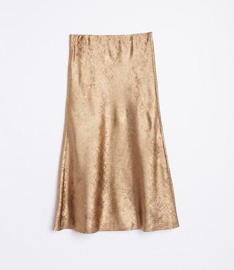 LOFT Shimmer Flowy Midi Skirt