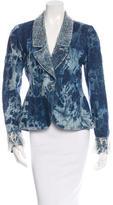 Chanel Tie Dye Denim Blazer