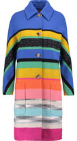 Missoni Metallic Striped Wool-Blend Coat