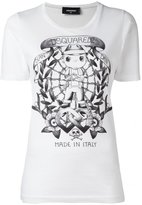 DSQUARED2 long tattoo graphic T-shirt
