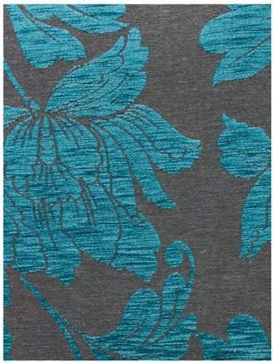 Botanic Faux Snakeskin/Fabric Left Hand Corner Group Scatter Back Sofa
