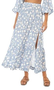 Peony Swimwear Tiered Midi Skirt