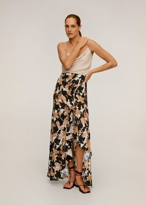 MANGO Slit printed long skirt