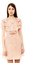 Miss Hoe Ruffle Neckline Dress