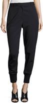 3.1 Phillip Lim Lightweight Stretch Wool Track Pants, Black