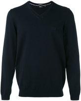 HUGO BOSS v-neck jumper - men - Cotton - L