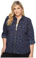 MICHAEL Michael Kors Plus Size Shooting Stars Foil Top Women's Clothing