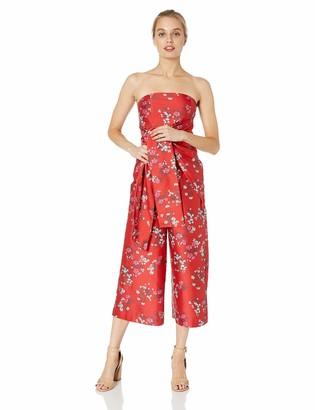 Keepsake Women's Heart and Soul Strapless OBI Belt Cropped Culotte Jumpsuit