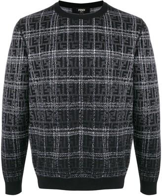 Fendi jacquard FF motif check jumper