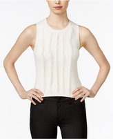 Armani Exchange Sleeveless Fringe Sweater