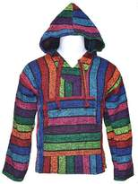 Sunrise Outlet Men's New Baja Hooded Jacket - Blue Green Red Orange - L