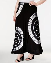 INC International Concepts Plus Size Tie-Dyed Maxi Skirt, Created for Macy's