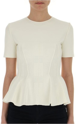Alexander McQueen Tailored Peplum Blouse