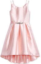 Pink & Violet Satin Dress, Big Girls (7-16)