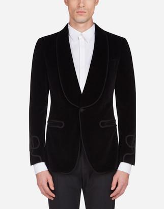 Dolce & Gabbana Velvet Jacket With Trimming Details