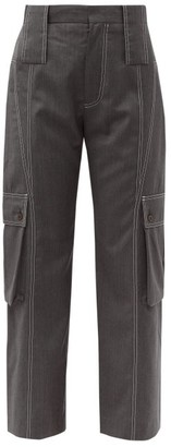Charles Jeffrey Loverboy Cropped Wool Cargo Trousers - Womens - Grey