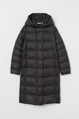 H&M Lightweight hooded down coat