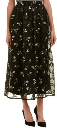 St. John Silk-Blend Maxi Skirt