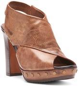 Donald J Pliner Women's JAGGER - Distressed Metallic Calf Leather Platform Sandal