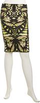 McQ by Alexander McQueen Floral-Print Stretch Skirt, Pink/Beige