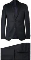 Hugo Boss - Blue Rocco Wyatt Slim-fit Pinstriped Virgin Wool Suit