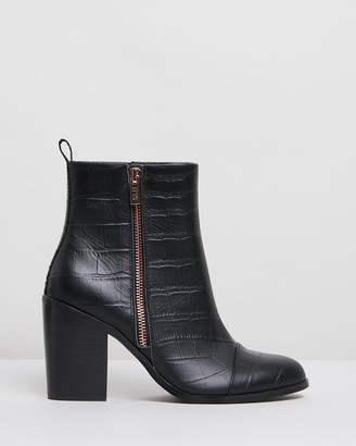 IRIS Footwear - Women's Black Heeled Boots - Baylee - Size One Size, 7 at The Iconic