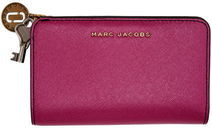 Marc Jacobs Pink Metallic Compact Wallet
