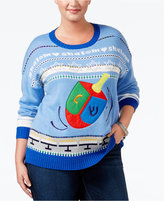 It's Our Time Trendy Plus Size Dreidel Holiday Sweater