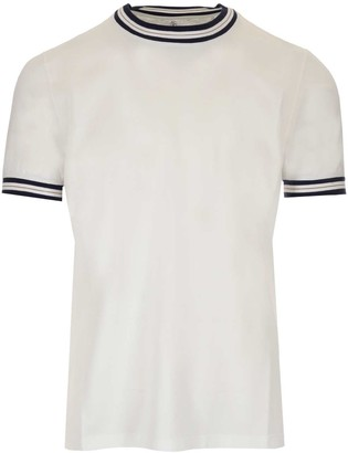 Brunello Cucinelli Striped Trim T-Shirt
